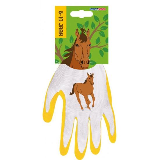 Kindertuinhandschoenen / werkhandschoenen paard 25 x 18 x 2 cm 3-4 jaar