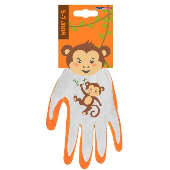 Kindertuinhandschoenen werkhandschoenen aap 25 x 18 x 2 cm 5 7 jaar