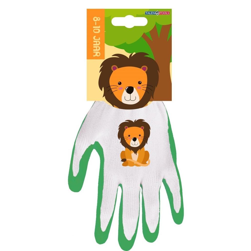 Kindertuinhandschoenen werkhandschoenen leeuw 25 x 14 x 2 cm 8 10 jaar