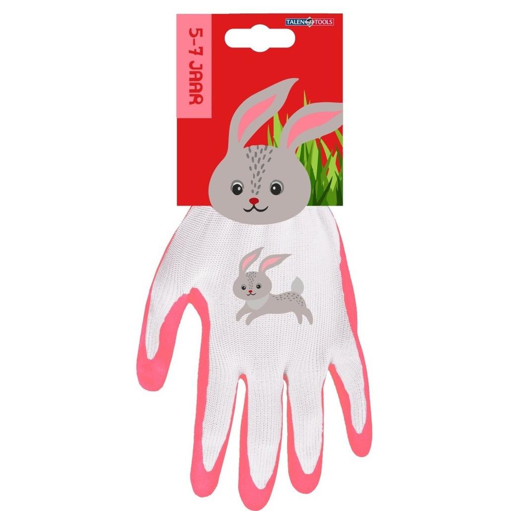 Kindertuinhandschoenen werkhandschoenen konijn 22 x 13 5 x 2 cm 4 6 jaar