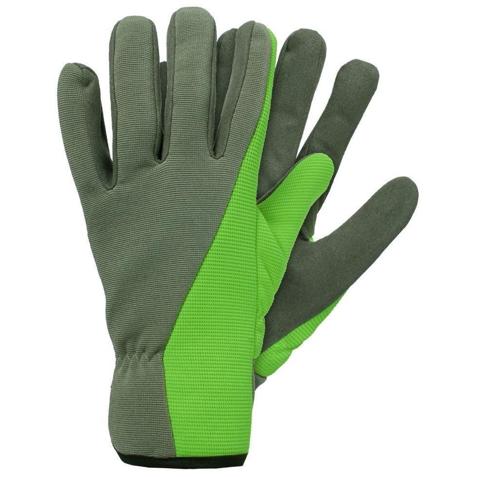 Tuin werkhandschoenen microfiber groen
