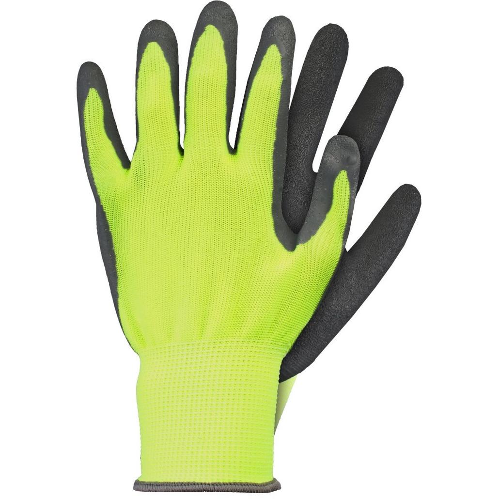 Tuin werkhandschoenen latex geel